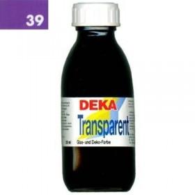 Deka Transparent 125 ml Cam Boyası 02-39 Violett (Mor)