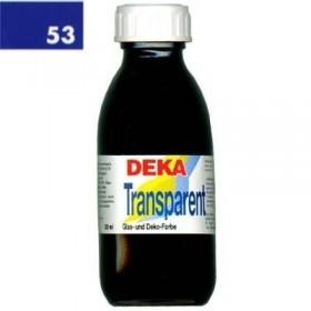 Deka Transparent 125 ml Cam Boyası 02-53 Dunkelblau (Koyu Mavi)
