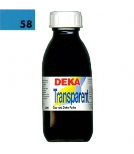 Deka Transparent 125 ml Cam Boyası 02-58 Türkis (Turkuaz)