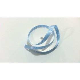 1cm B.Mavi üzerine Beyaz Puantiye Kurdele (10mt)