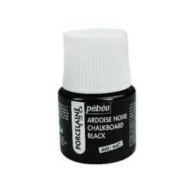 Pebeo Porcelaine 150 Porselen Boyası 201 Chalkboard Black Matt (Karatahta Boyası)