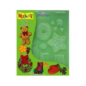 Makin's Clay Push Mold Şekilleme Kalıbı Yılbaşı Süsleri