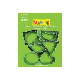 Makin's Clay Kesici Kalıp Seti Şekiller 9 Desen