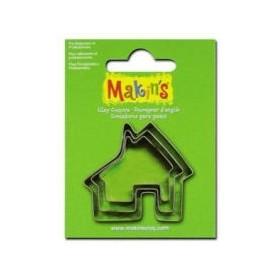 Makin's Clay Kesme Kalıbı 3 Parça Ev