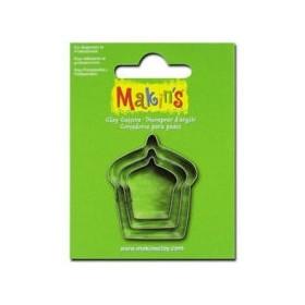 Makin's Clay Kesme Kalıbı 3 Parça Kek