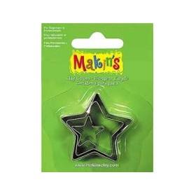 Makin's Clay Kesme Kalıbı 3 Parça Yıldız