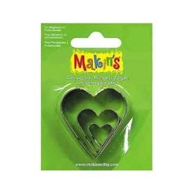 Makin's Clay Kesme Kalıbı 3 Parça Kalp