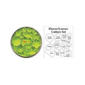 Makin's Clay Kesici Kalıp Seti Çiçek Yaprak 15 Desen