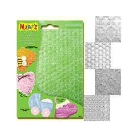 Makin's Clay Texture Sheets Doku Kalıpları 4'lü Set C
