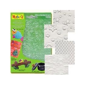 Makin's Clay Texture Sheets Doku Kalıpları 4'lü Set D