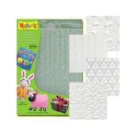 Makin's Clay Texture Sheets Doku Kalıpları 4'lü Set E