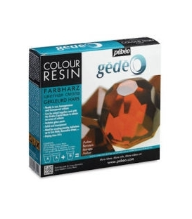 Pebeo Gedeo Colour Resin Amber Kehribar Renkli Reçine 150 ml. Kit