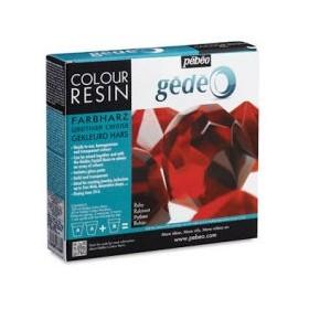 Pebeo Gedeo Colour Resin Ruby Kırmızı Renkli Reçine 150 ml. Kit