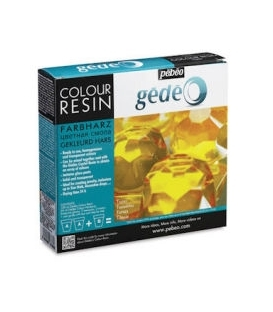 Pebeo Gedeo Colour Resin Topaz Sarı Yakut Renkli Reçine 150 ml. Kit