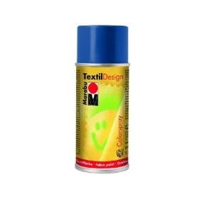 Marabu Textil Design Akrilik Bazlı Sprey Kumaş Boyası 150 ml. PRUSYA MAVİSİ