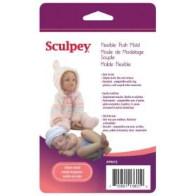 Sculpey Flexible Push Mold Esnek Model Kalıbı Bebek Figürü