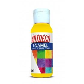 Artdeco 801 Sarı Enamel Cam ve Seramik Boyası 60 ml