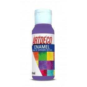 Artdeco 808 Mor Enamel Cam ve Seramik Boyası 60 ml