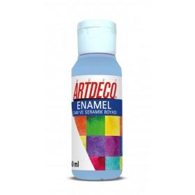 Artdeco 809 Bebek Mavi Enamel Cam ve Seramik Boyası 60 ml