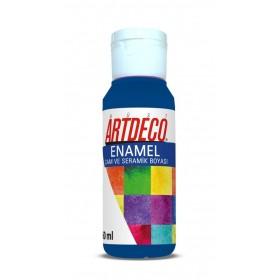 Artdeco 810 Mavi Enamel Cam ve Seramik Boyası 60 ml