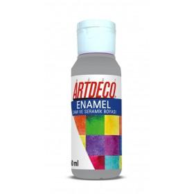 Artdeco 817 Gri Enamel Cam ve Seramik Boyası 60 ml
