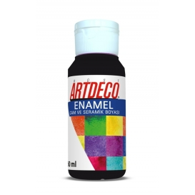 Artdeco 818 Siyah Enamel Cam ve Seramik Boyası 60 ml