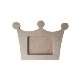 Kral Tacı Resim Çerçeve Ahşap Obje 35x25cm