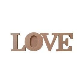 LOVE TeaLight Mumluk Çerçeve Ahşap Obje