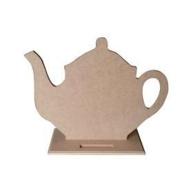 Çaydanlık Karatahta Ahşap Obje
