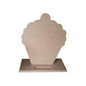 Cupcake Karatahta 29x25x11 cm. Ahşap Obje