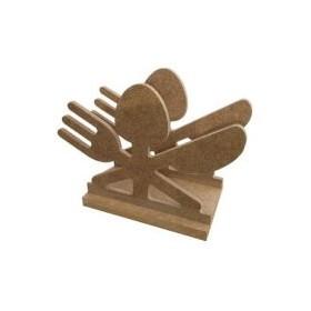 Çatal-Kaşık-Bıçak Peçetelik 14x10 cm. Ahşap Obje