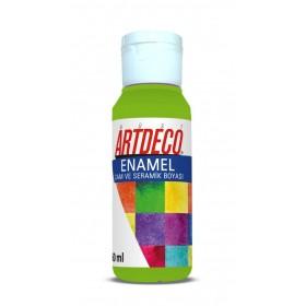 Artdeco 872 Limon Yeşili Enamel Cam ve Seramik Boyası 60 ml