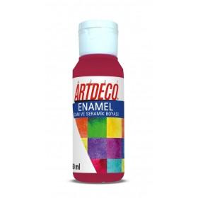 Artdeco 835 Kiraz Kırmızı Enamel Cam ve Seramik Boyası 60 ml