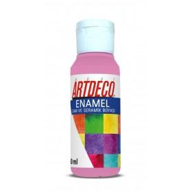Artdeco 834 Şeker Pembe Enamel Cam ve Seramik Boyası 60 ml