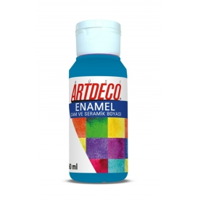 Artdeco 830 Turkuaz Mavi Enamel Cam ve Seramik Boyası 60 ml