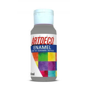 Artdeco 822 Metalik Gümüş Enamel Cam ve Seramik Boyası 60 ml