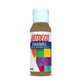 Artdeco 821 Metalik Altın Enamel Cam ve Seramik Boyası 60 ml