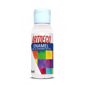 Artdeco 819 Beyaz Enamel Cam ve Seramik Boyası 60 ml