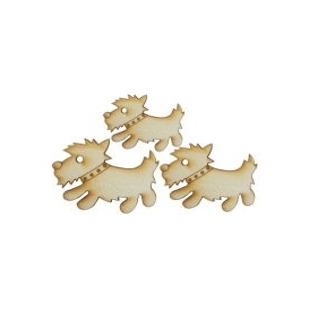 Lazer Kesim Ahşap Süs PS12 İskoç Terrier