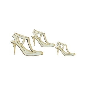 Lazer Kesim Ahşap Süs PS16 Topuklu Ayakkabılar