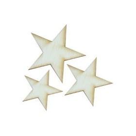 Lazer Kesim Ahşap Süs PS38 Yıldızlar