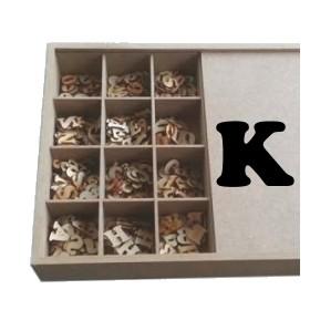 K Lazer Kesim Harf 2.5 cm.