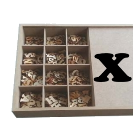 X Lazer Kesim Harf 2.5 cm.