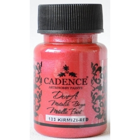 Cadence Dora 133 Red Metalik Boya 50 ml.