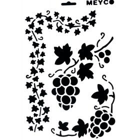 Stencil 20x30cm üzüm ve yapraklar Model 9
