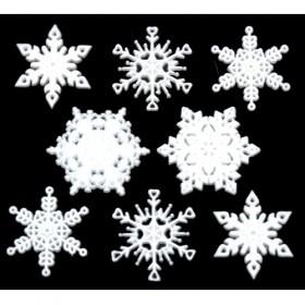 Dekoratif Düğmeler Yeni Yıl Kar Tanesi 2486
