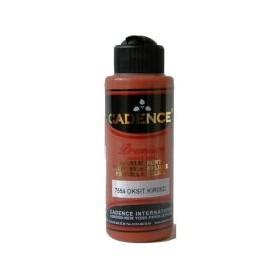 7554 Oksit Kırmızı Beyaz Cadence Akrilik Boya 120 ml