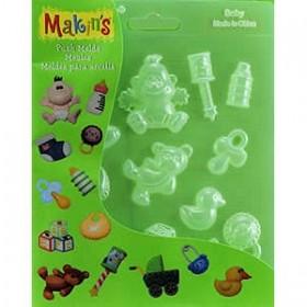Makin's Clay Push Mold Şekilleme Kalıbı Bebekler