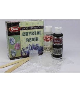 Rich Crystal Resin Transparan Kristal Reçine Set 195 cc