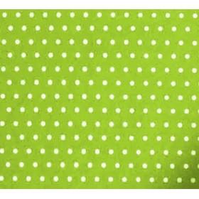Baskı (Desenli) Keçe Beyaz Puantiyeli Zemin Fıstık Yeşili